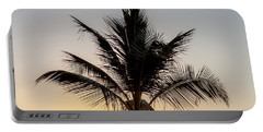 Portable Battery Charger featuring the photograph Sunset Palm by Az Jackson