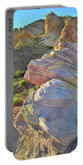 Sunset Pastels In Valley Of Fire Portable Battery Charger