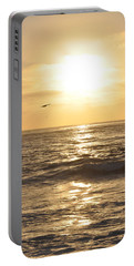 Sunset Pelican Silhouette Portable Battery Charger