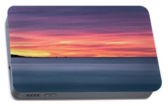 Portable Battery Charger featuring the photograph Sunset Penisular, Bunker Bay by Dave Catley