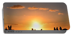 Sunset People In Imperial Beach Portable Battery Charger