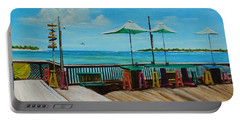 Sunset Pier Tiki Bar - Key West Florida Portable Battery Charger by Lloyd Dobson