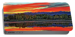 Portable Battery Charger featuring the photograph Sunset Ponds by Scott Mahon