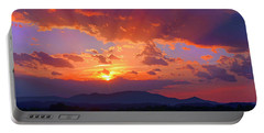 Sunset Rays At Smith Mountain Lake Portable Battery Charger