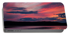 Sunset Red Lake Portable Battery Charger