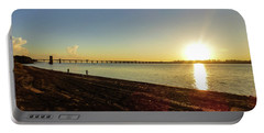 Sunset Reflecting On The Uruguay River Portable Battery Charger