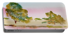 Portable Battery Charger featuring the painting Reflections At Sunrise by Dorothy Darden