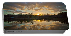 Sunset Reflections Portable Battery Charger by Linda Unger