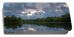 Portable Battery Charger featuring the photograph Sunset Reflections by Lori Coleman