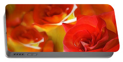 Sunset Rose Portable Battery Charger by Gabriella Weninger - David