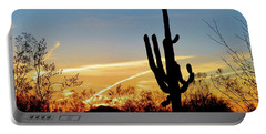 Sunset Saguaro In The Spring Portable Battery Charger