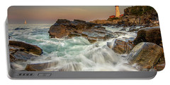 Sunset Sail At Portland Head Light Portable Battery Charger