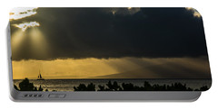 Portable Battery Charger featuring the photograph Sunset Sail by Colleen Coccia
