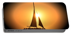 Sunset Sail Portable Battery Charger by Gary Smith