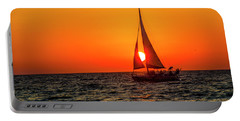 Sunset Sail Portable Battery Charger by Kevin Cable