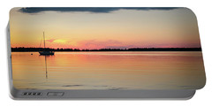 Sunset Sail On Calm Waters Portable Battery Charger
