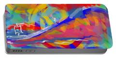 Sunset Sailboat Portable Battery Charger by Jason Nicholas