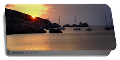 Sunset Sailing Boats Portable Battery Charger