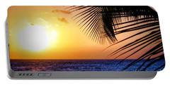 Sunset Salute In Aruba Portable Battery Charger
