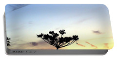 Sunset Seedhead Silhouette  Portable Battery Charger