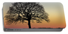 Portable Battery Charger featuring the photograph Sunset Silhouette by Clare Bambers
