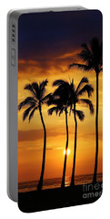 Sunset Silhouette Portable Battery Charger by Craig Wood