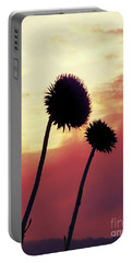 Portable Battery Charger featuring the photograph Sunset Silhouettes by Maria Urso