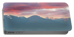 Sunset Sky Over Port Of Vancouver Bc Portable Battery Charger
