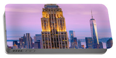 Sunset Skyscrapers Portable Battery Charger