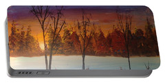 Sunset Snow Portable Battery Charger