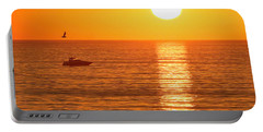Sunset Solitude Portable Battery Charger by Ed Clark