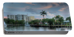 sunset South Florida canal Portable Battery Charger