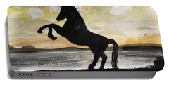 Sunset Stallion Portable Battery Charger by Carole Robins