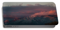 Sunset Storm On The Sangre De Cristos Portable Battery Charger by Jason Coward