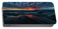 Portable Battery Charger featuring the photograph Sunset Surf by Doug Gibbons