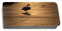 Portable Battery Charger featuring the photograph Sunset Swan by Richard Bryce and Family