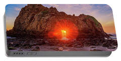 Portable Battery Charger featuring the photograph Sunset Through  by John Hight