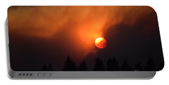 Sunset Through Smoke Portable Battery Charger