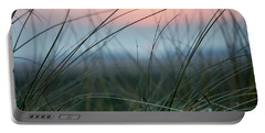 Sunset  Through The Marsh Grass Portable Battery Charger by Spikey Mouse Photography