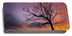 Sunset Tree Portable Battery Charger by Darren White