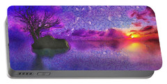 Sunset Tribute To Van Gogh Portable Battery Charger