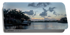 Sunset Tropical Canal Portable Battery Charger