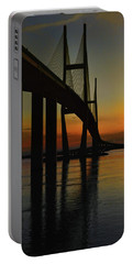 Sunset Under The Bridge Portable Battery Charger