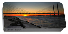 Sunset Under The Indian River Inlet Bridge Portable Battery Charger