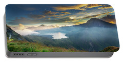 Sunset View From Mt Rinjani Crater Portable Battery Charger
