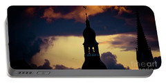Sunset View In Old Town Riga Portable Battery Charger
