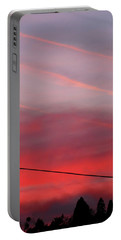 Portable Battery Charger featuring the photograph Sunset Voltage by Menega Sabidussi