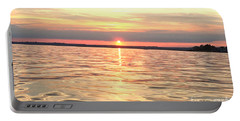 Portable Battery Charger featuring the photograph Sunset Water by Cindy Lee Longhini