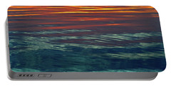 Sunset Water  Portable Battery Charger by Lyle Crump