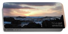 Sunset Waves, Asilomar Beach, Pacific Grove, California #30431 Portable Battery Charger
